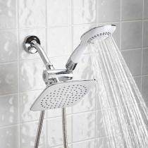 80% off Dual-head Shower Massager w/ Rainfall