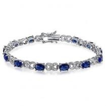 80% off Genuine Sapphire & Diamond Accent Tennis Bracelet