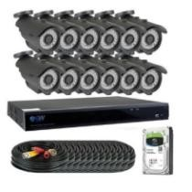 $800 off GW 16 Channel H.265 5MP CCTV Security Camera System Waterproof Outdoor Indoor Bullet Cameras