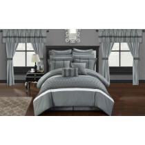 83% off 24pc. Chic Home Topaz Complete Bedroom-in-a-Bag Comforter Set