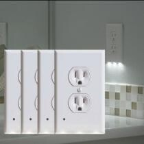 83% off 4-Pack: LED Night Light Outlet Cover