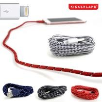 83% off Kikkerland 8 Pack of 6 Foot Cloth Covered iPhone Cables