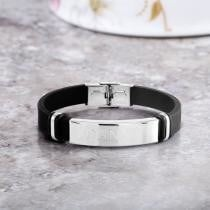 83% off Personalized Men's Leather ID Bracelet + Free Shipping