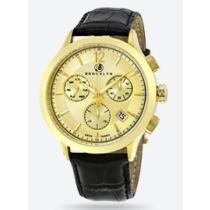 84% off Brooklyn Dakota Swiss Quartz Chronograph Gold Tone Dial Men's Watch