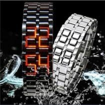 84% off Faceless Unisex Stainless Steel Titanium Waterproof LED Watch