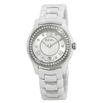 85% off EBEL X-1 Diamond Silver Dial White Ceramic Ladies Watch
