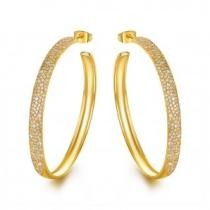 86% off Gold Swarovski Crystal Earrings