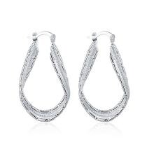 87% off Sterling Silver Abstract French Lock Hoops