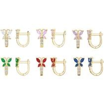 88% off 14K Yellow Gold-Plated Kids' Butterfly Crystal Earrings