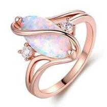 88% off 3 CTTW Fire Opal S Ring in 18K Rose Gold Plating