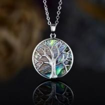 88% off Genuine Abalone Pearl Tree of Life Pendant Necklace