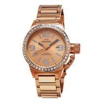 88% off TW Steel Women's Canteen Rose Gold Tone Stainless Steel Quartz Date Watch TW305
