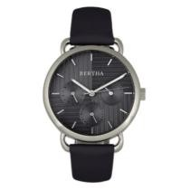 89% off Bertha Gwen Stainless Steel Leather Belt Watch