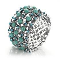 89% off Regal Flower Bed Turquoise Bracelet + Free Shipping