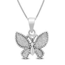 89% off Sparkle Dust Butterfly Pendant in .925 Sterling Silver + Free Shipping