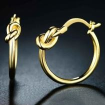 90% off 18K Gold Knot Hoop Earrings