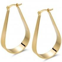 90% off Gold Plated Hollow Hoop Earrings