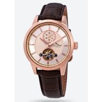 90% off Lucien Piccard Open Heart GMT Automatic Rose Gold-tone Dial Men's Watch