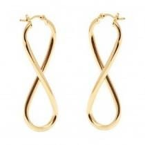 91% off 18K Gold Figure 8 Dangling Earrings