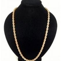 92% off 10K Solid Gold Rope Chain