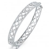 92% off Rhodium Plated Cubic Zirconia Bracelet