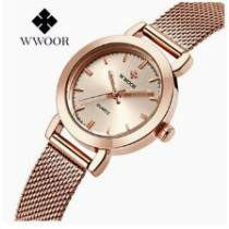 92% off WWOOR Women's Stainless Steel Mesh Band Bracelet Watch