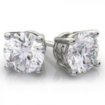 93% off 2.00 CTTW Genuine White Topaz Sterling Silver Studs