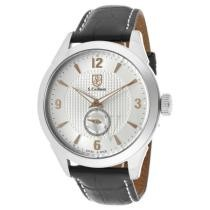 93% off S Coifman Men's Leather Silver Dial Watch