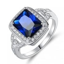 94% off Rhodium Lab Created Sapphire Ring