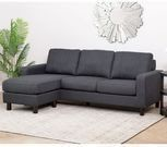 Abbyson Living Kristen Fabric Reversible Sectional Sofa