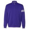 Adidas Mens Climalite 3-Stripe French Terry 1/4 Zip Pullover