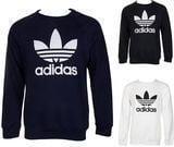 Adidas Men's Trefoil Logo Graphic Sweatshirt