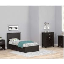 Andover Espresso Oak Twin Mates Bedroom Collection Now $619.95