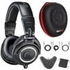 Audio-Technica M50X Professional Studio Monitor Headphones w/ Adapter Bundle (Black)