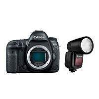 Canon 5D Mark IV DSLR Camera (Body) + Flashpoint Zoom Li-On X TTL Flash
