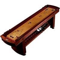 Barrington 9-Foot Classic Wood Shuffleboard Table w/ Wine Rack $500