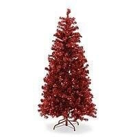 Belham Living 6ft Pre-Lit Red Artificial Christmas Tree $35.98 + fs