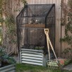 Belham Living Emery Corrugated Metal Raised Garden Bed w/ Greenhouse Cover - 38L x 21.75D x 67H
