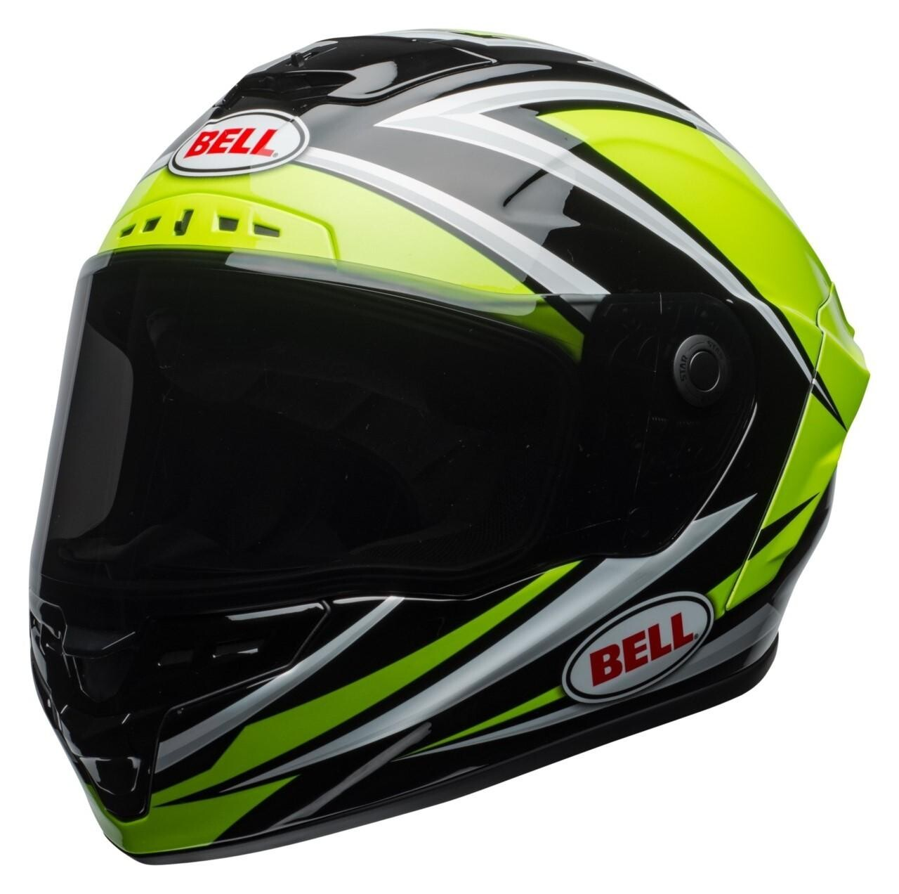 Bell Star MIPS Torsion Helmet (Hi-Viz Green/Black or Red/Blue)