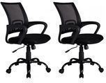BestOffice Ergonomic Mid-Back Mesh Office Chair 2-Pack