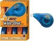Bic Wite-Out Correction Tape 10-Count