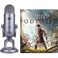 Blue Yeti USB Microphone (Cool Gray)  w/ Assassin's Creed Odyssey (PCDD)