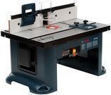 """Bosch 15A Corded 27"""" x 18"""". Aluminum Benchtop Router Table"""