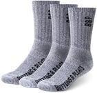 Buttons & Pleats: Premium Merino Wool Crew Socks (3 Pairs)