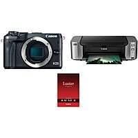 Canon M6 Mirrorless Digital Camera (Body) + Pro-100 Printer + Photo Paper $299 after $350 MIR + free s/h