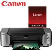 Canon Pixma PRO-100 Color Inkjet Photo Printer + Paper $59AR