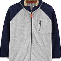 Carter's Kid Zip-Up Fleece Jacket (Heather/Navy) $10.39 + Free Shipping