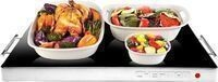 Chefman 400W Glass-top Warming Tray w/ Temperature Control