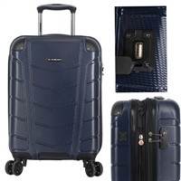"Ciao Conquest 20"" Carry-On Spinner Luggage w/ USB Charging Port & TSA Approved Lock $36.99"