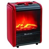 Comfort Zone 600/1200W Mini Electric Fireplace Space Heater $35